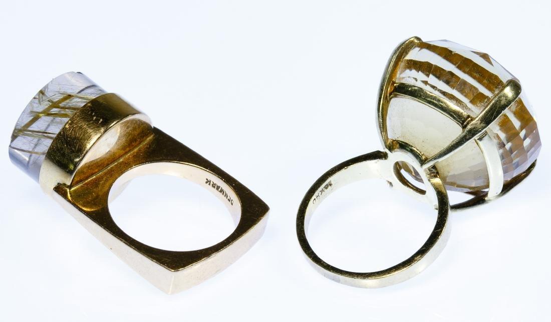 14k Gold and Semi-Precious Gemstone Rings - 2