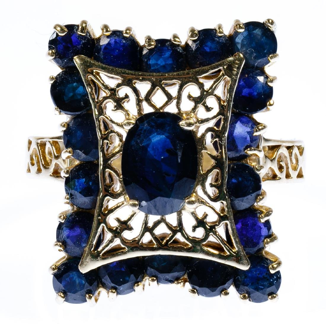 14k Gold and Sapphire Ring