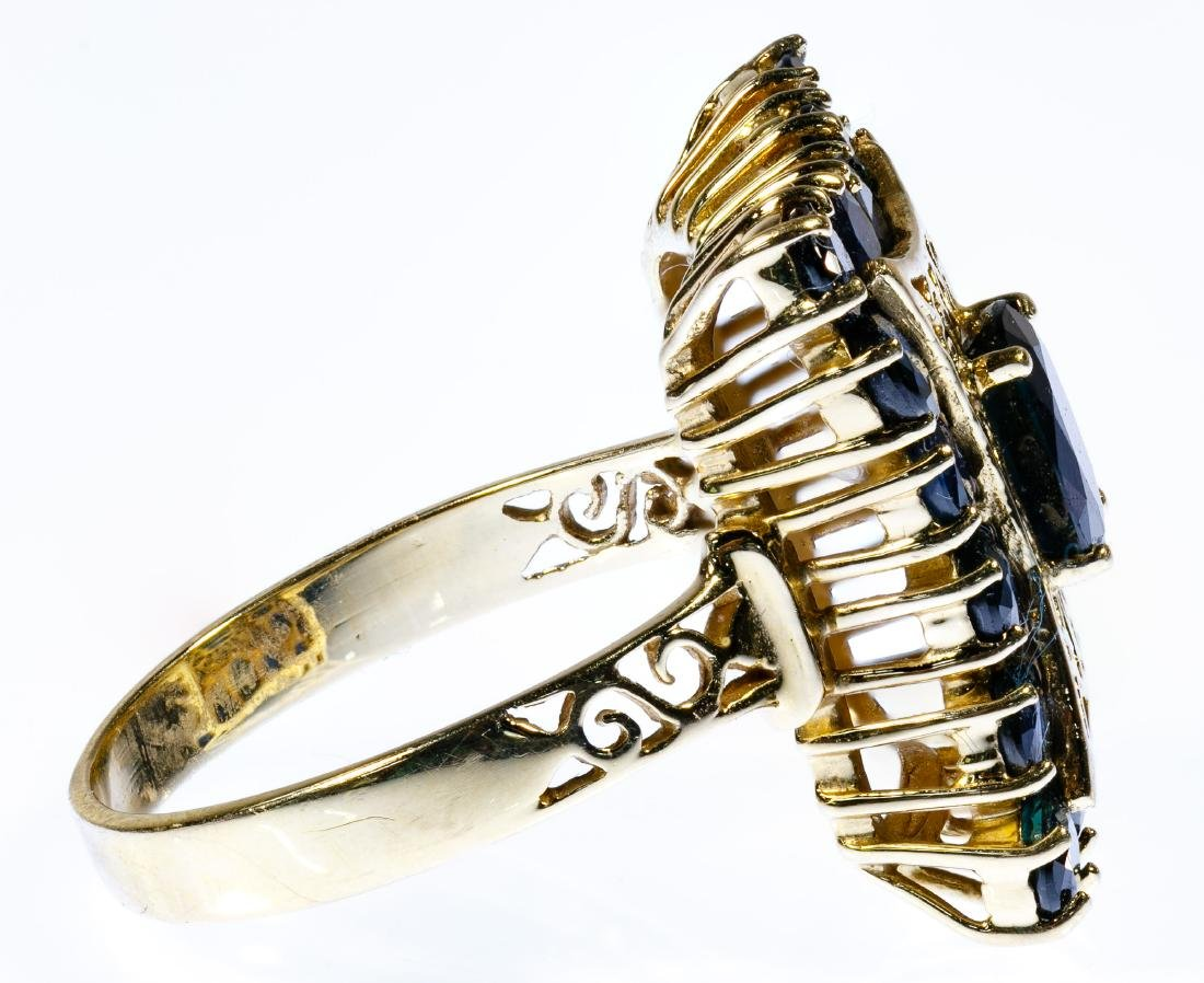 14k Gold and Sapphire Ring - 2