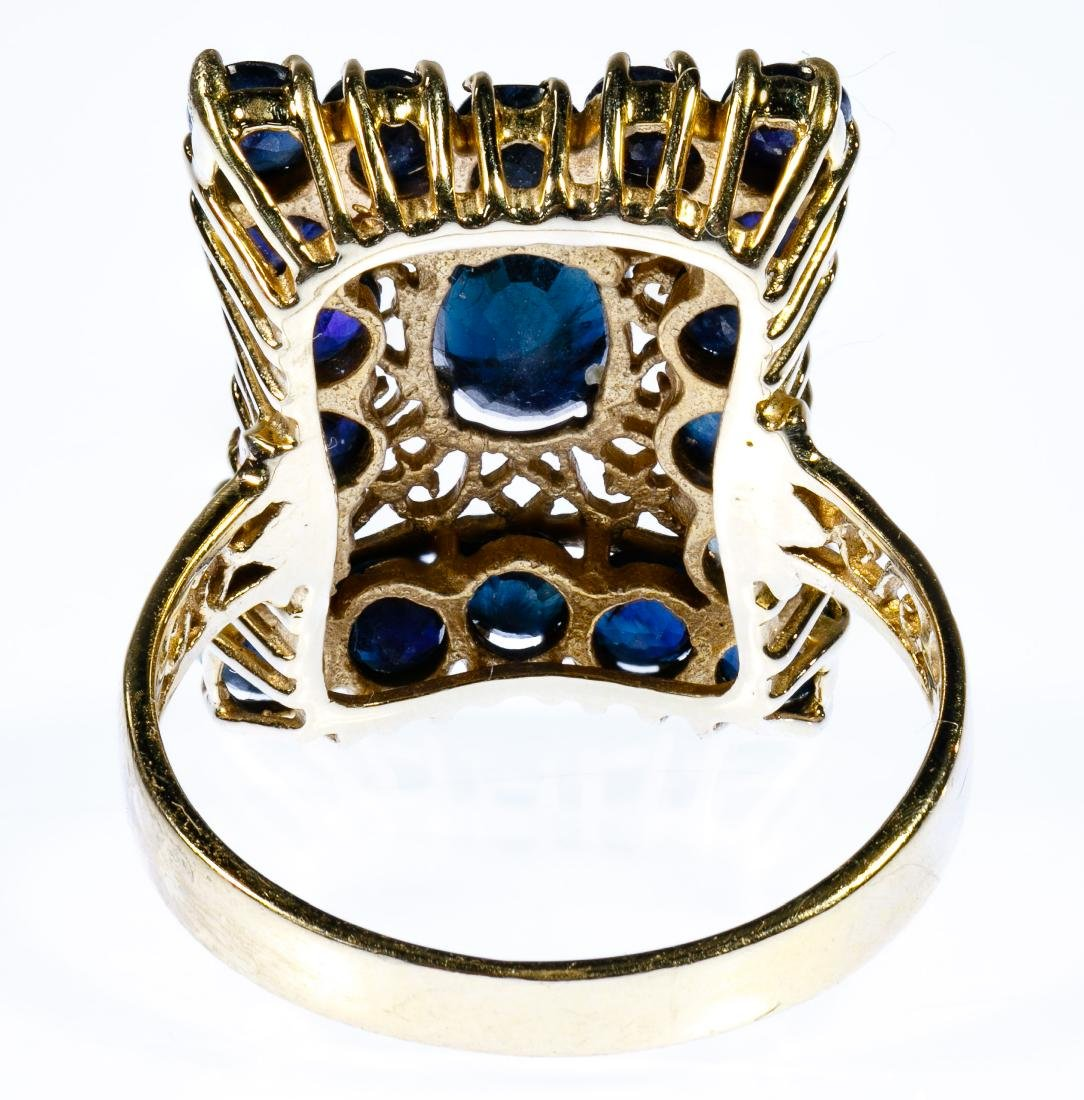 14k Gold and Sapphire Ring - 3