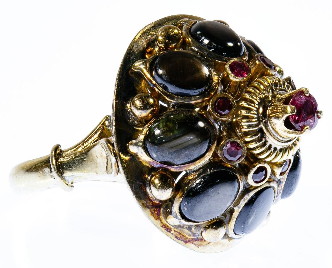 14k Gold, Ruby and Sapphire Ring