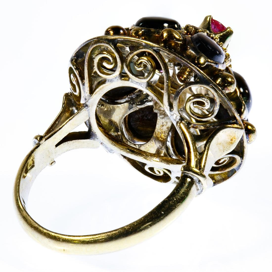 14k Gold, Ruby and Sapphire Ring - 3