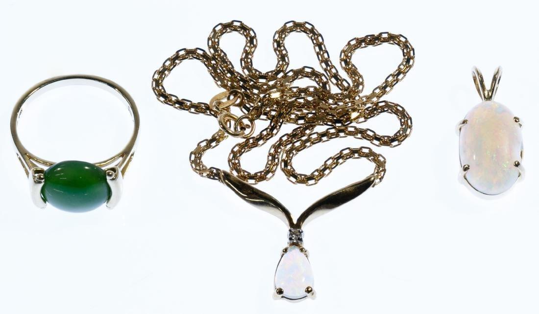 14k Gold and Semi-Precious Gemstone Jewelry Assortment