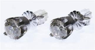 10k White Gold and Diamond Stud Earrings