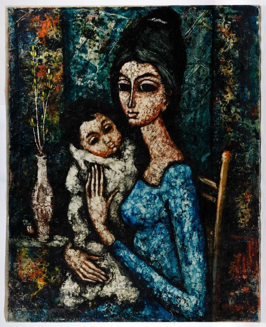 Enrico Campagnola (Swiss, 1911-1984) Oil on Canvas