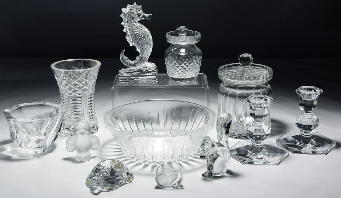 Waterford, Val St Lambert and Baccarat Crystal