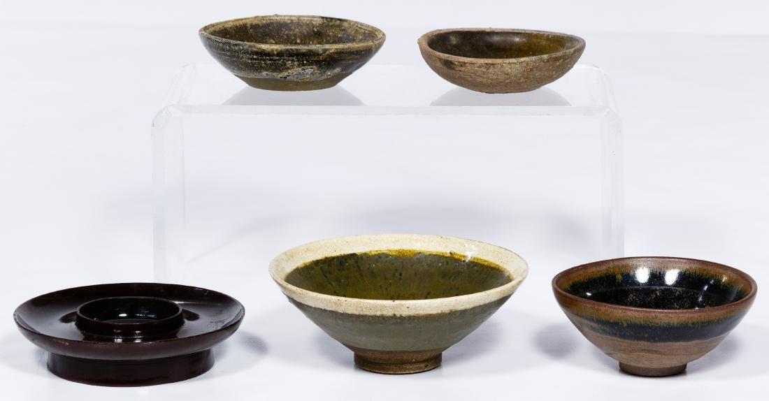 Chinese Pottery Tea Bowl Assortment