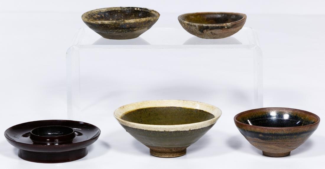 Chinese Pottery Tea Bowl Assortment - 2