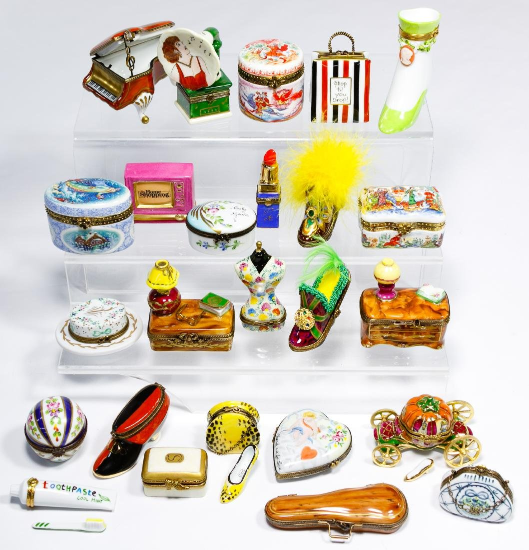 Limoges and Russian Trinket Box Assortment