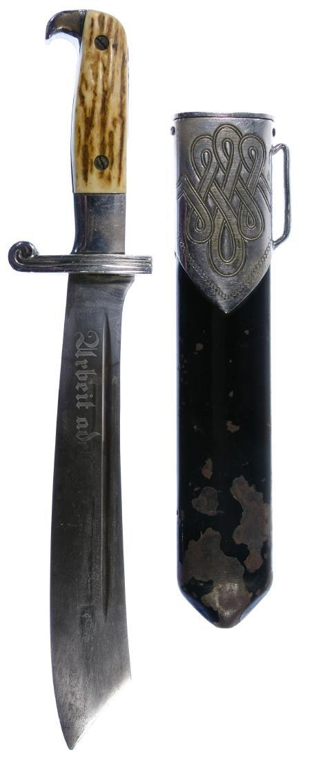 World War II German RAD Enlisted Dagger and Scabbard