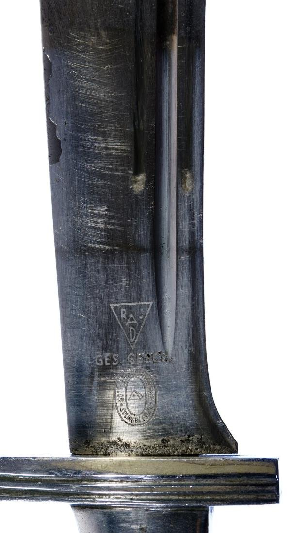 World War II German RAD Enlisted Dagger and Scabbard - 4
