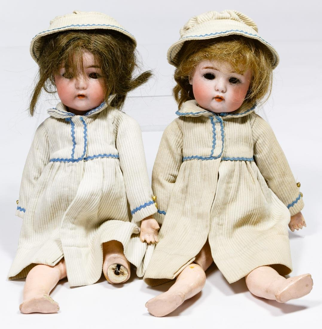 Simon & Halbig Bisque Head #1299 Twin Dolls