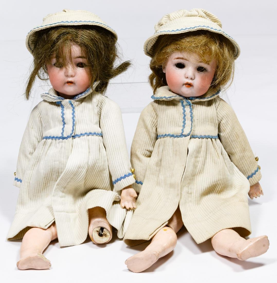 Simon & Halbig Bisque Head #1299 Twin Dolls