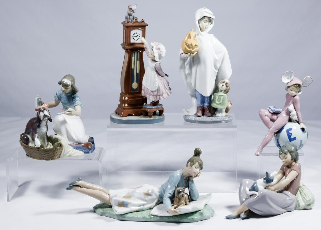Lladro and Nao Figurine Assortment