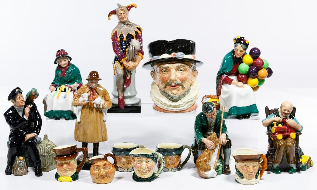 Royal Doulton Figurine and Toby Mug Assortment