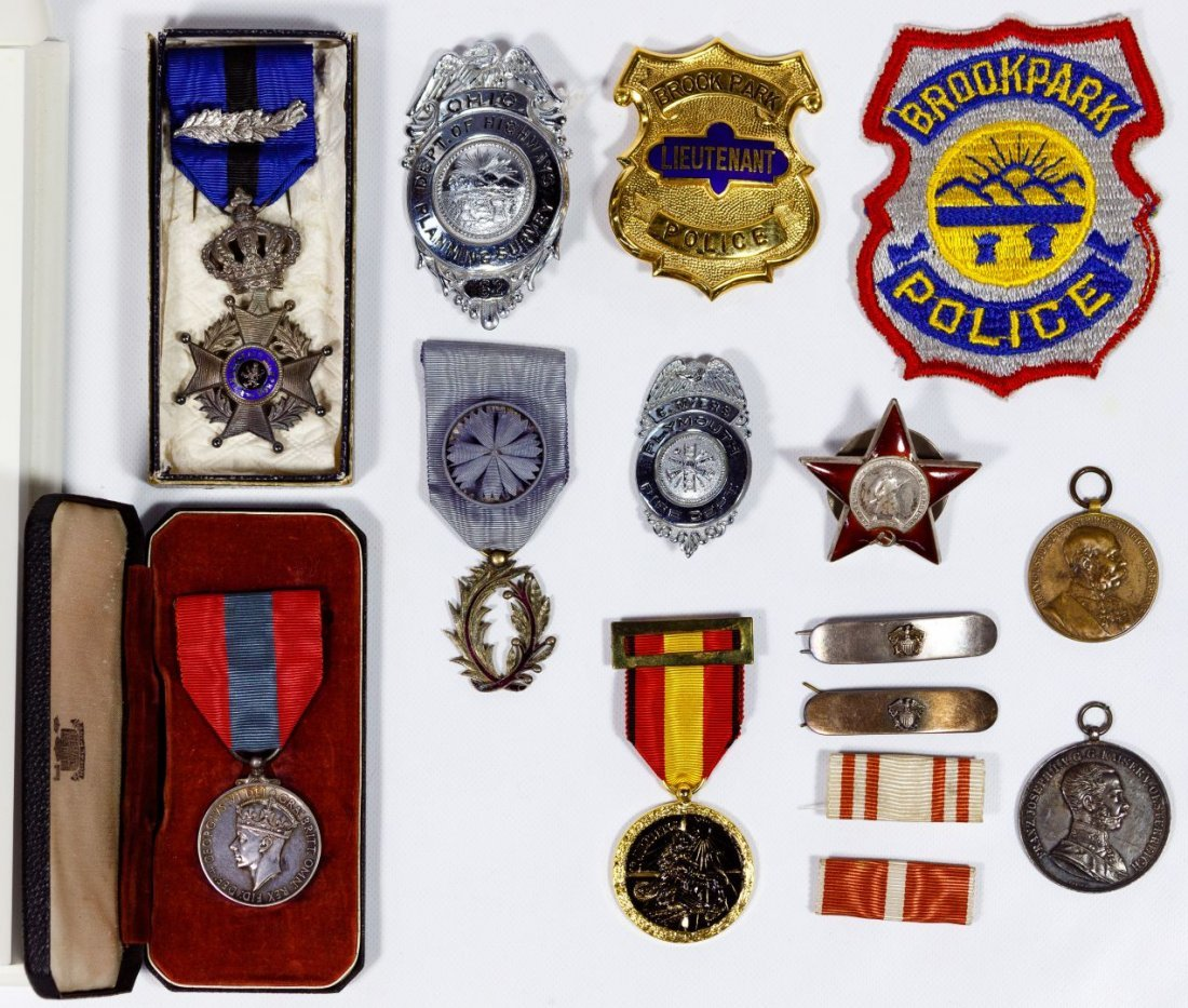 Badge and Medal Assortment