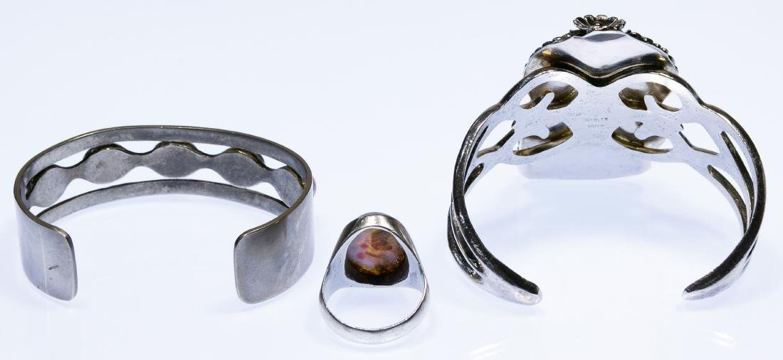 Sterling Silver Bracelets and Ring - 2