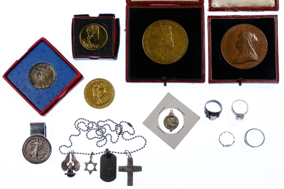 Coronation Medal and Silver Assortment