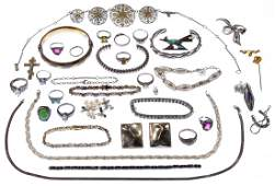 14k Gold and Sterling Silver Jewelry Assortment