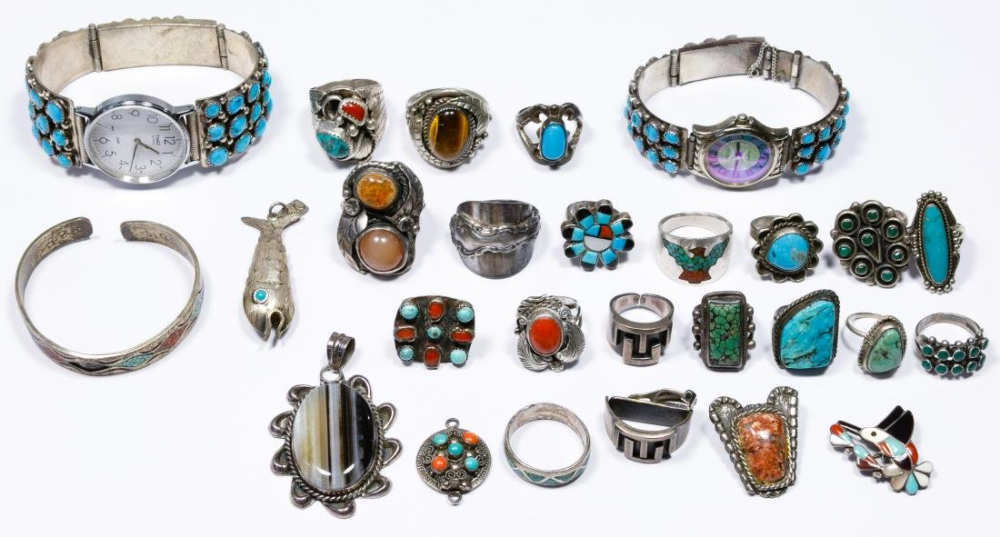 Native American Sterling Silver Jewelry Assortment