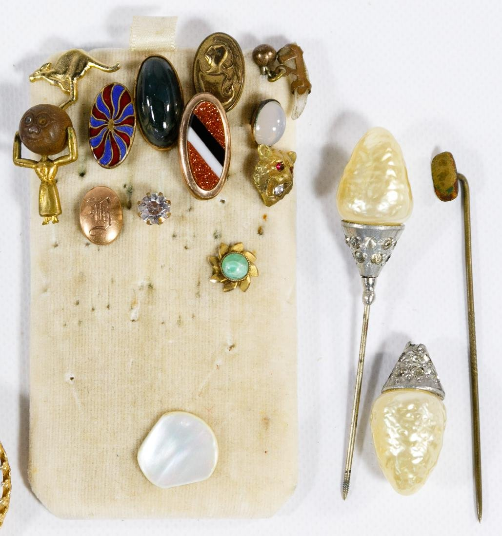 Cameo Jewelry, Lapel and Hat Pin Assortment - 2