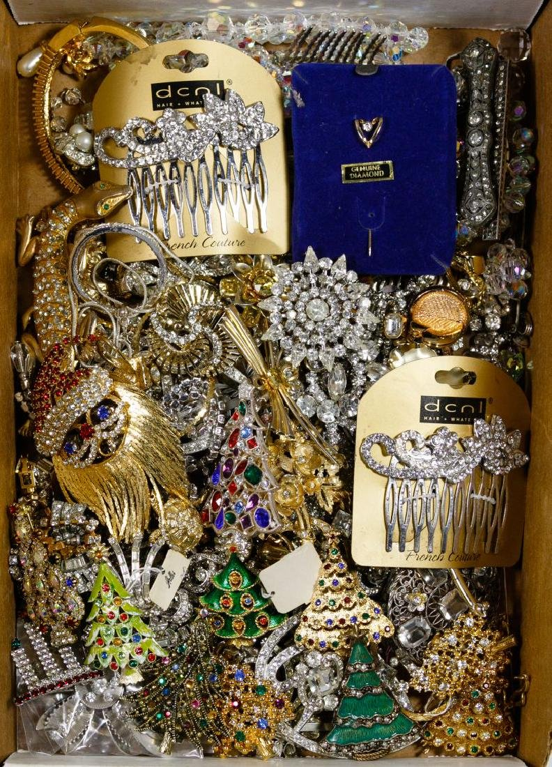 Clear and Holiday Rhinestone Jewelry Assortment