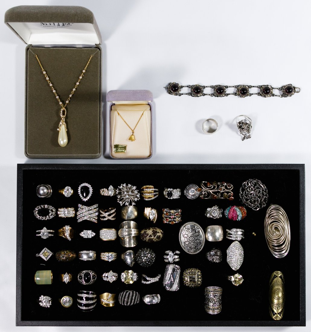 Sterling Silver and Costume Jewelry Assortment - 2