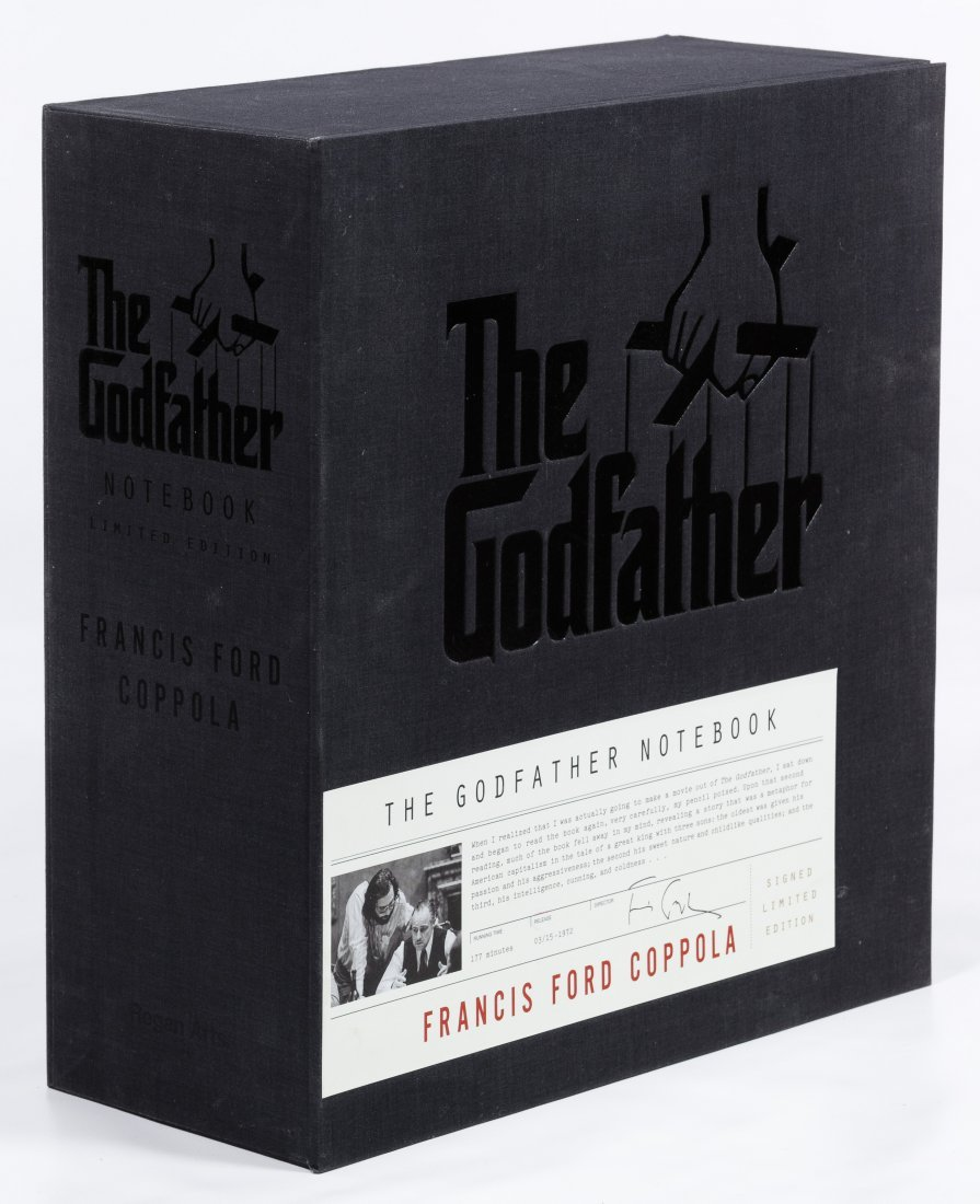 """Boxed Signed Limited Edition """"The Godfather Notebook"""""""