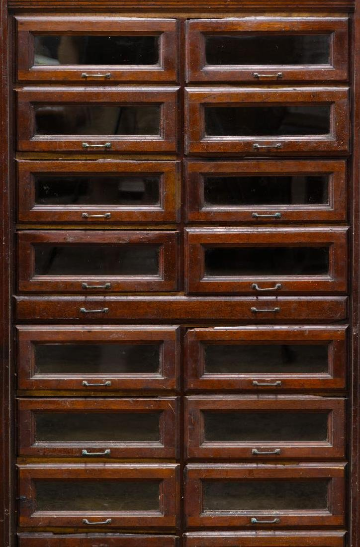 Mahogany Store Cabinet with Glass Front Drawers - 2