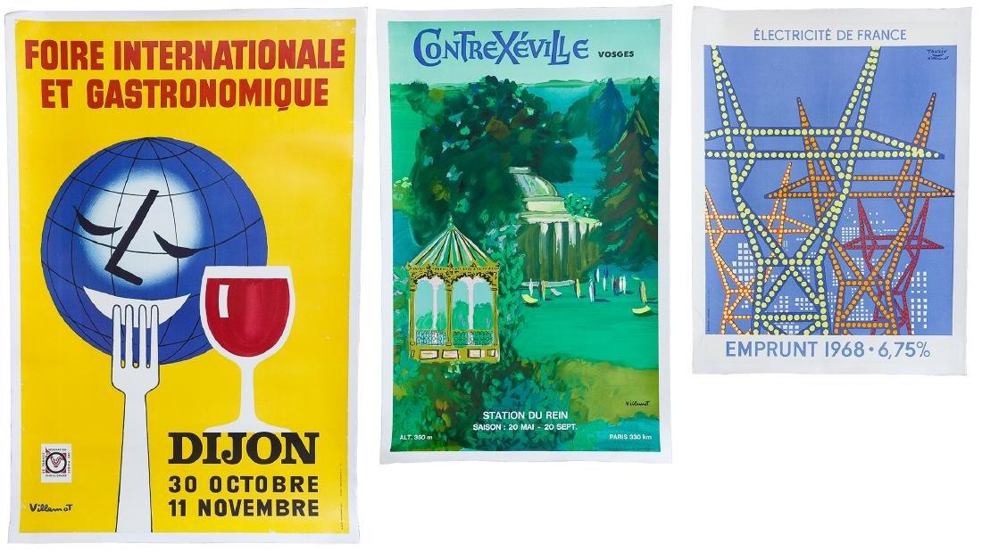 Villemot Poster and Art Book Assortment