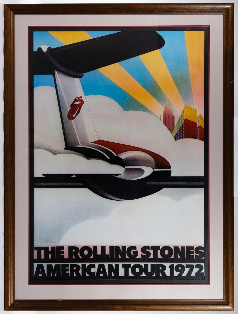 The Rolling Stones 1972 American Tour Poster