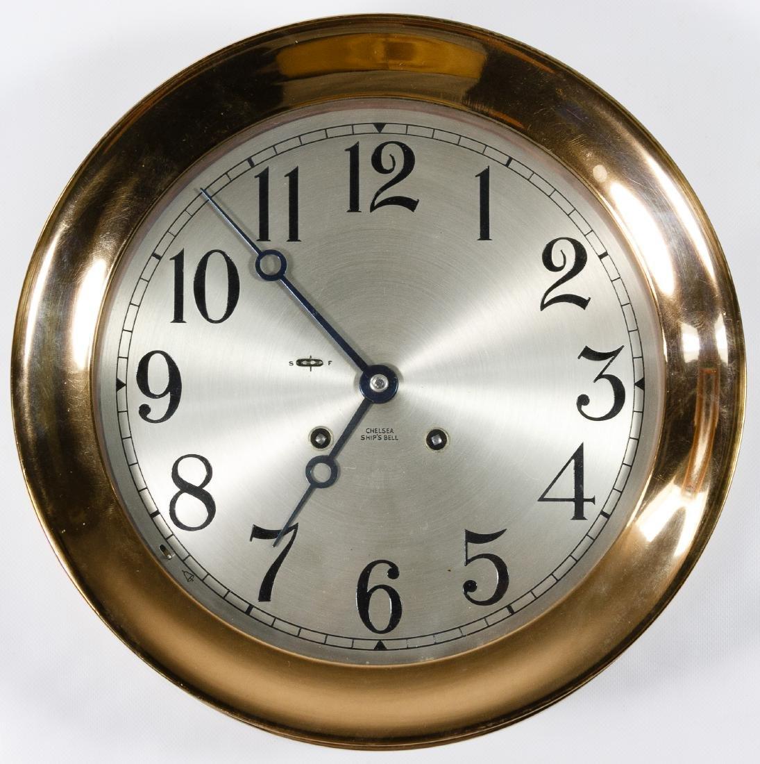 Chelsea 'Ship's Bell' Copper Clock