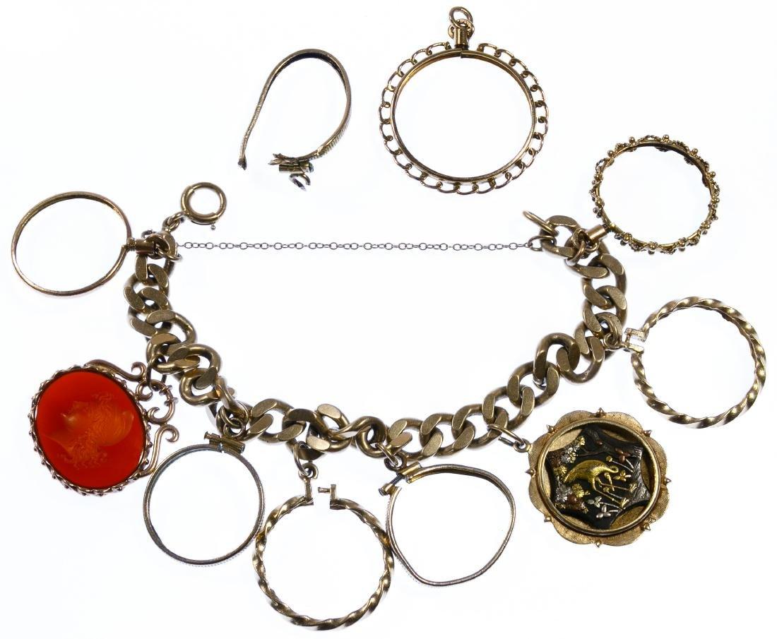 14k Gold, 10k Gold and Gold Filled Charm Bracelet
