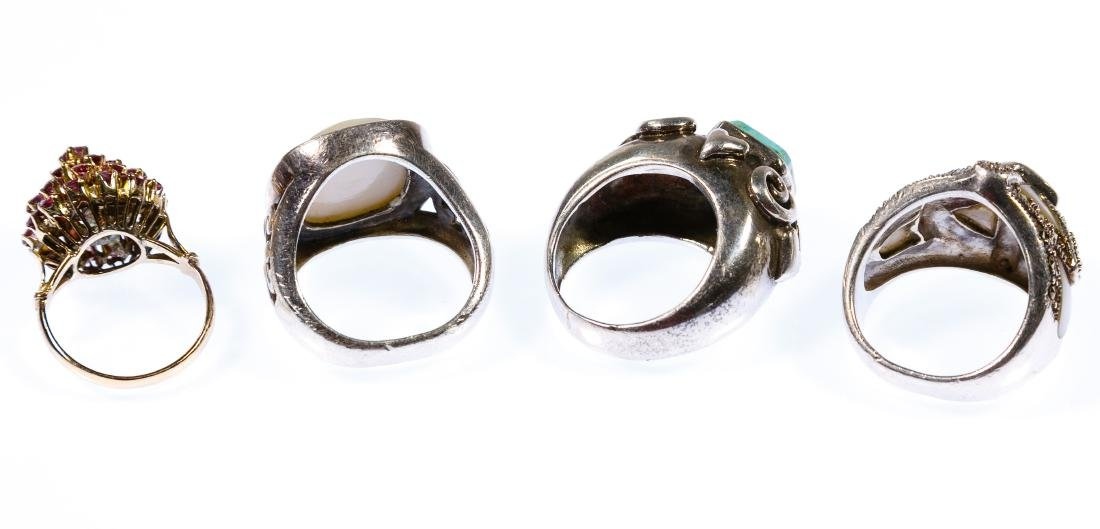 14k Gold and Sterling Silver Rings - 2