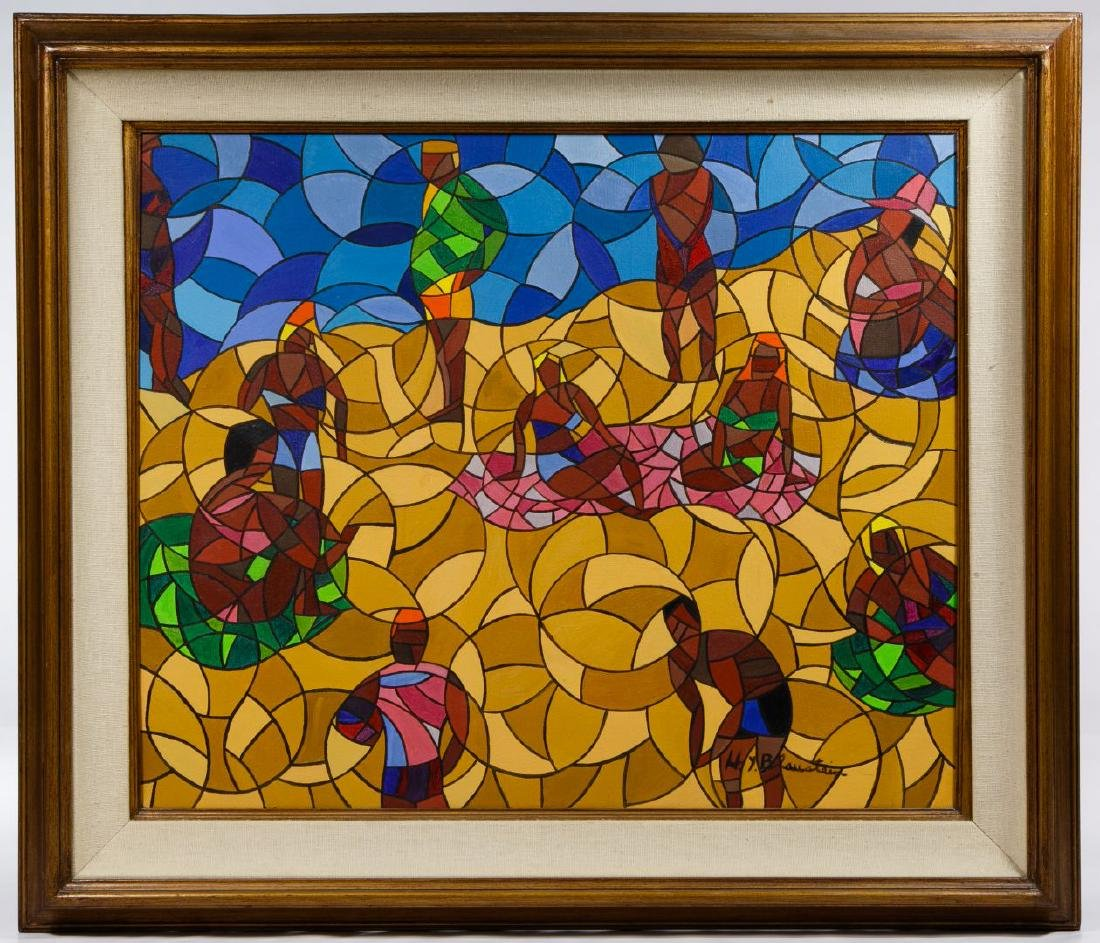 H Y Blaustein (American, 20th Century) Oil on Canvas