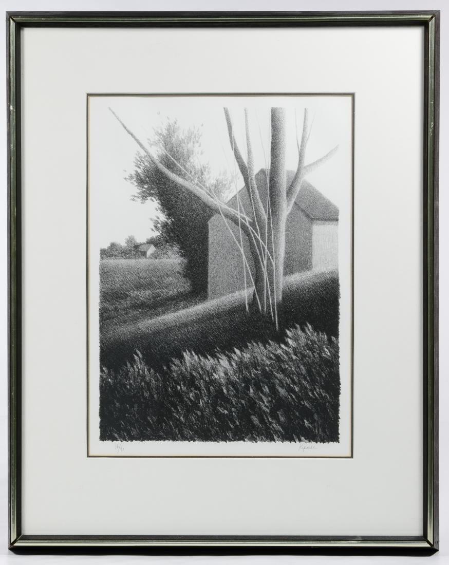 Robert Kipniss (American, b.1931) 'Shack with Tree in