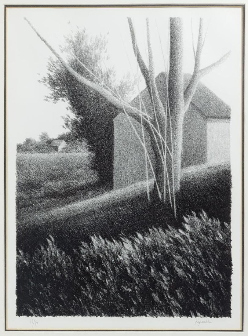 Robert Kipniss (American, b.1931) 'Shack with Tree in - 2