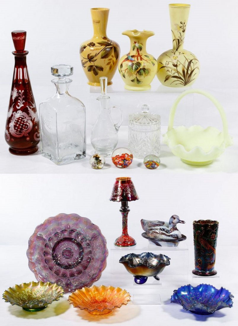 Carnival and Bristol Glass Assortment