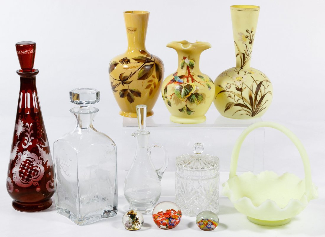 Carnival and Bristol Glass Assortment - 2