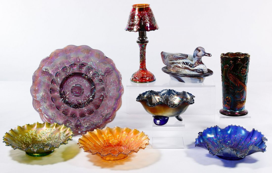 Carnival and Bristol Glass Assortment - 3