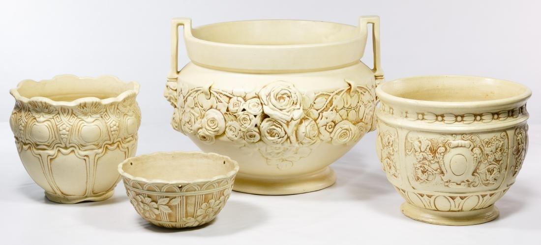 Weller Pottery 'Clinton Ivory' Planter Assortment
