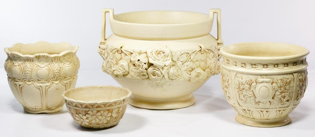 Weller Pottery 'Clinton Ivory' Planter Assortment - 2