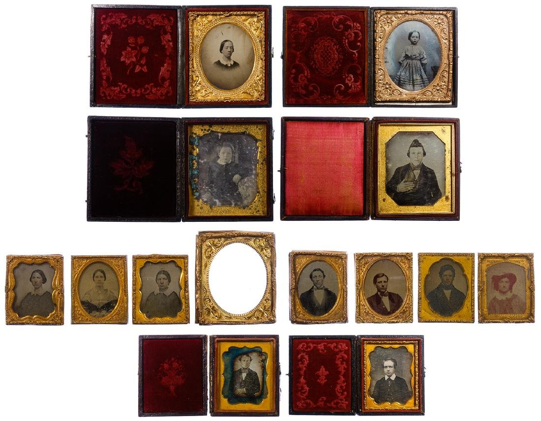 Civil War Era Tin Type Photograph Assortment