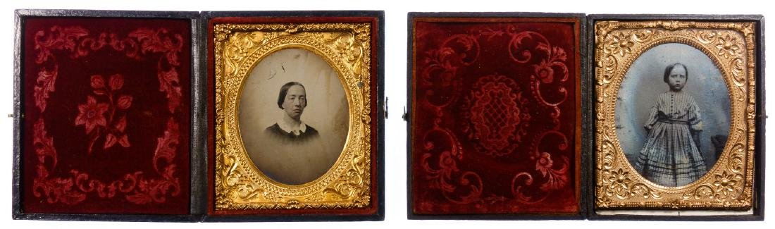 Civil War Era Tin Type Photograph Assortment - 2
