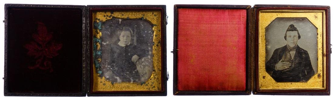 Civil War Era Tin Type Photograph Assortment - 3