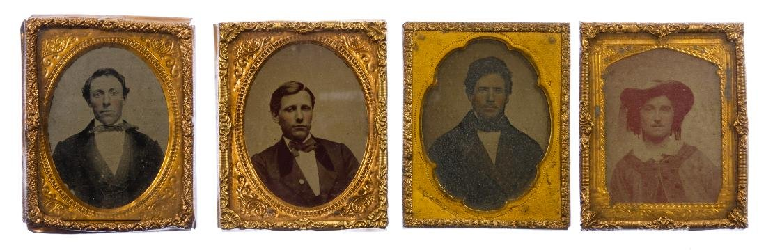 Civil War Era Tin Type Photograph Assortment - 6