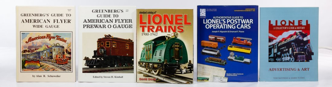 Model Train Reference Book Assortment - 5