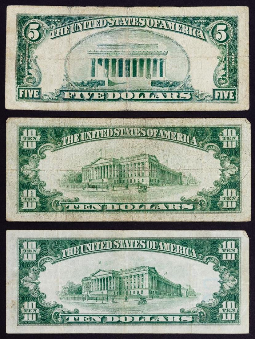 1934-A $10 and $5 'North African' Silver Certificates F - 2