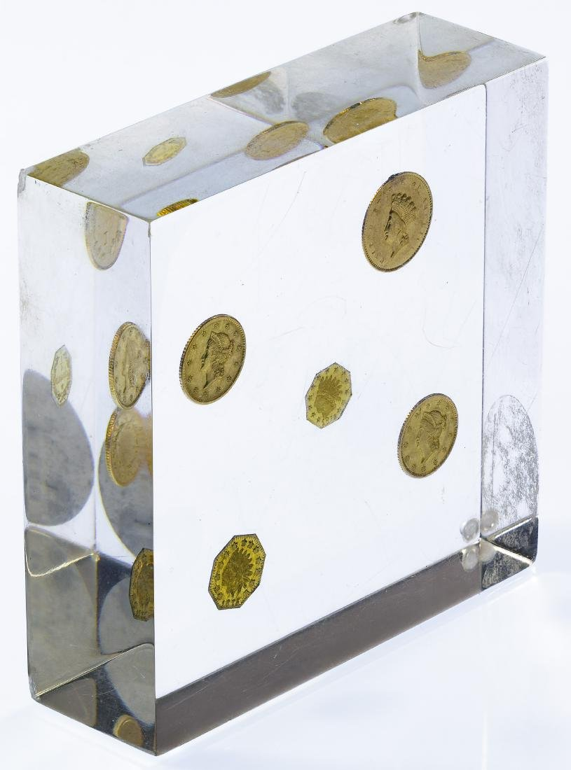 Gold Coin Paperweight - 3