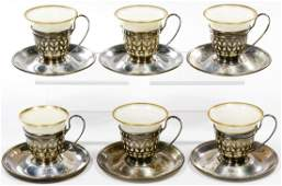 Gorham Sterling Silver and Lenox China Demitasse